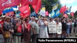 Митинг против повышения пенсионного возраста 28 июля в Калининграде