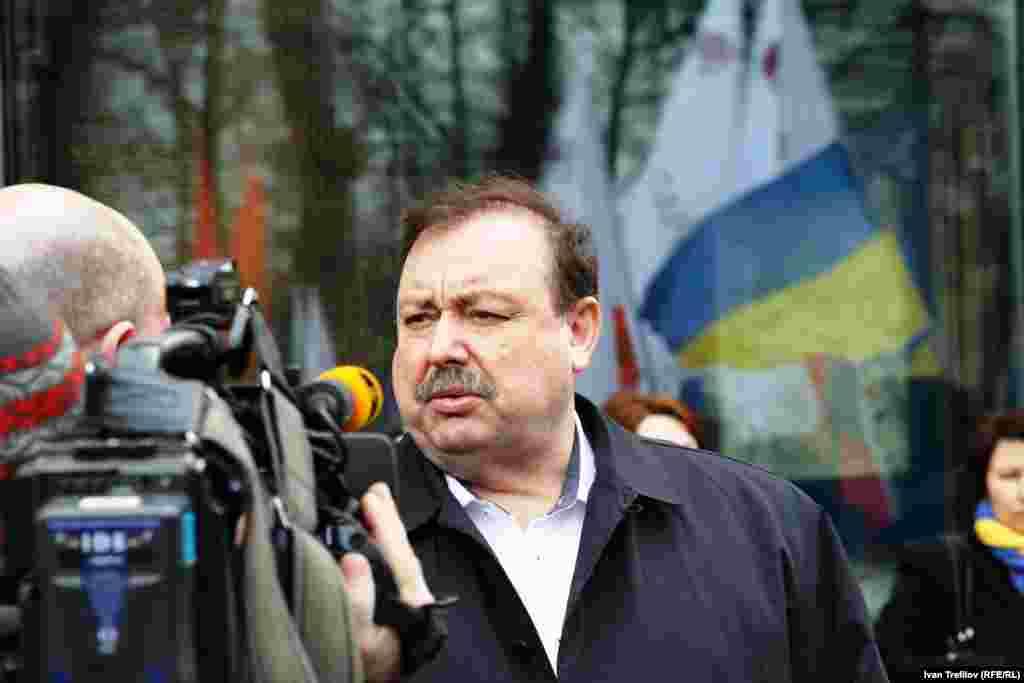 Антивоенная акция в Москве. Бывший депутат Госдумы Геннадий Гудков