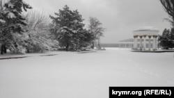 Снег в Керчи, 7 января 2019 года