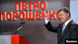Ուկրաինա - Պետրո Պորոշենկոն իր նախընտրական շտաբում, 25-ը մայիսի, 2014թ․