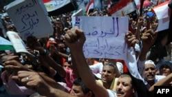 Протестанты на площади Тахрир, 2011