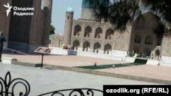 Özbekistan - Samarkand şeerinde prezident İslam Karimovnıñ cenazesine azırlıq, 2016 senesi, sentâbr 2