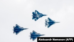 PHOTO GALLERY: 'You Can Buy It': Russia Showcases New Stealth Fighter For Turkish Leader At Air Show (CLICK TO VIEW)