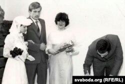 Шлюб Ігара Герменчука з Марыяй Зайцавай. Менск, 1983 г.