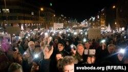 Протест во Прага за одбрана на Чешката телевизија од претседателот Земан