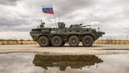 Российский БТР на севере Сирии. Май 2020 года
