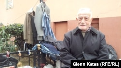 Naji Kochan, a 75-year-old pensioner and supporter of Prime Minister Recep Tayyip Erdogan, sells hardware in the Kasimpasa region of istanbul.
