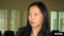 Армангуль Капашева, супруга пропавшего банкира Жолдаса Тимралиева. Астана, 4 июня 2009 года.