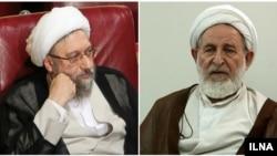 صادق لاریجانی (چپ) و محمد یزدی