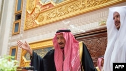 "Saudi Arabia's King Salman bin Abdulaziz greeting the Shura council, a top advisory body, in the capital Riyadh. - Saudi Arabia's King Salman urged arch-rival Iran to abandon an expansionist ideology that has ""harmed"" its own people. Nov 20, 2019"
