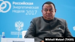 OPEC Secretary-General Mohammad Barkindo attends the Russian Energy Week 2017 forum in Moscow, October 4, 2017