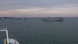 Українські кораблі проходять через Керченську протоку, 23 вересня 2018 року