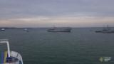 Украинские корабли проходят через Керченский пролив, 23 сентября 2018 года