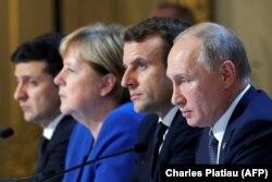 """Formatul """"Normandia"""" - Ucraina, Rusia, Germania și Franța , summit-ul de la Paris, 9 decembrie 2019"""