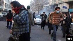 ۲۵معترضان در ۲۵ بهمن ماه در تهران