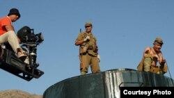Узбекские кинематографисты в процессе снятия художественного фильма.