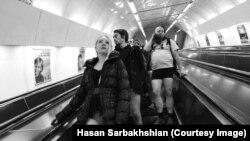 برگزاری روز«متروسواری بدون شلوار» در پراگ