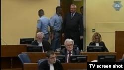 Vojislav Šešelj u sudnici, 7.lipnja 2013.