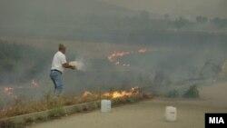 Архивска фотографија- Пожар во месноста Гроот во Велес.