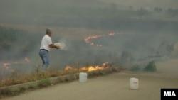 Пожар во месноста Гроот во Велес.