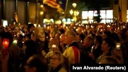 Митинг сторонников независимости Каталонии.