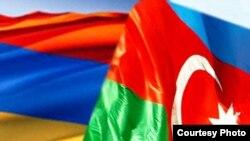 Թաթարստան - Հայաստանի եւ Ադրբեջանի դրոշները