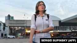 Наталія Каплан, сестра Олега Сенцова, Київ, серпень 2018