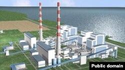 Графическая модель Балхашской тепловой электрической станции, которую намечено построить к 2018 году. Источник информации: веб-сайт компании «Самрук-энерго».