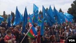 Müsavat partiyasının aksiyası (arxiv fotosu).