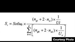 Формула распределения субсидий в 2011-2013 гг