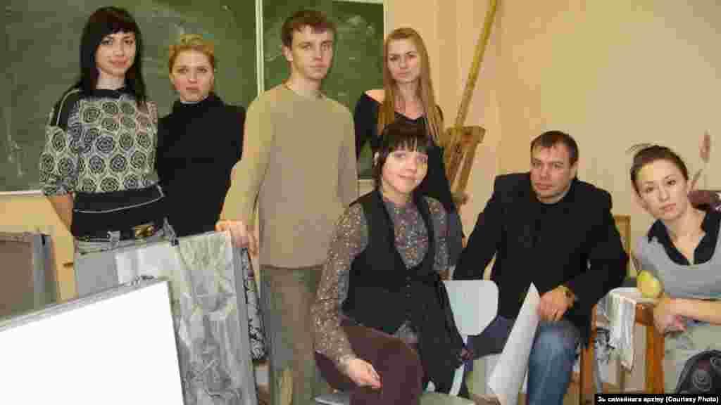 Во время учебы в Минском государственном архитектурно-строительном колледже