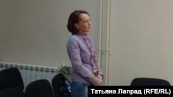 Активистка Оксана Походун на оглашении приговора в суде