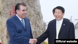 China - Tajik President Emomali Rahmon during his visit to China (L), 4Jun2012