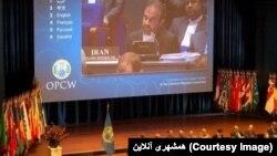 رضا نجفی، مدیرکل صلح و امنیت بینالمللی وزارت خارجه ایران، اتهامات آمریکا علیه ایران در خصوص تسلحیات شیمایی را «بیاساس»، توصیف کرد