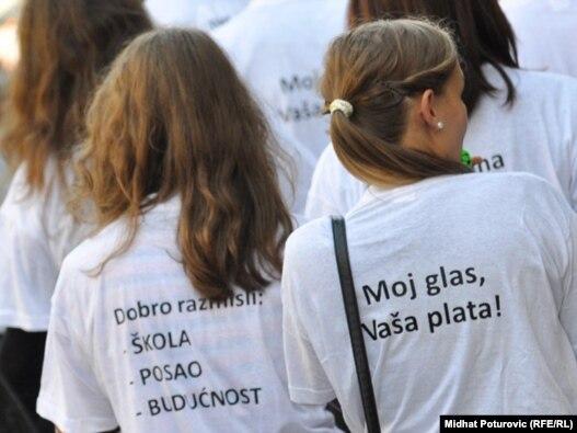 Predizborne aktivnosti nevladinog sektora na animiranju mladih za glasanje, Sarajevo, 1. oktobar 2010