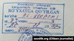 Adelya Xudoyberganova va uning qizi 9 yil avval buzilgan uyga propiska qilingan.