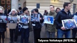 Акция в поддержку заключенного активиста Ильдара Дадина в Петербурге, 31 марта 2016