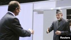 Президент Франции Франсуа Олланд и его афганский коллега Хамид Карзай