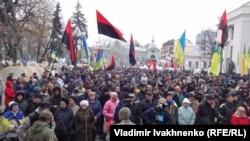 Протестующие у здания Верховной Рады, 7 ноября 2017