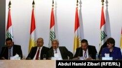 رئيس وأعضاء مجلس المفوضية العليا المستقلة للإنتخابات في مؤتمر صحفي بأربيل