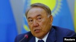 Нурсултан Назарбаев, президент Казахстана. Астана, 9 октября 2015 года.