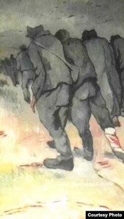 """Nicolae Tonitza, """"Convoi de prizonieri"""" (Foto: Expoziția Marele Război, 1914-1918, Muzeul Național de Istorie a României)"""