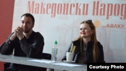Режисерот Синиша Ефтимов и актерката Весна Петрушевска.