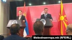 Ана Брнабиќ и Зоран Заев
