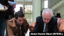 Iraq - Autograph session of the writer Abd al-Hossein Shaban, Irbil, 24Jan2012