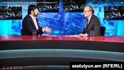 Ваге Григорян во время интервью в эфире Воскресной аналитической программы Азатутюн ТВ «С Тамразяном», 9 февраля 2020 г.