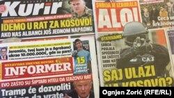 Naslovnice beogradskih dnevnih novina, 16. januar 2017.