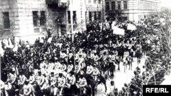 Кавказская Тюрко-Исламская армия во главе с Нури пашой в Баку, 1918