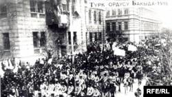 Bakıda osmanlı qoşunları - 1918