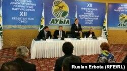 На предвыборном съезде партии «Ауыл». Астана, 1 февраля 2016 года.